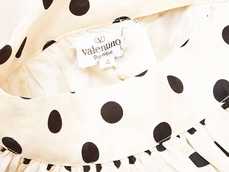 Valentino Organza Polka Dot Skirt  In Excellent Condition For Sale In New York, NY