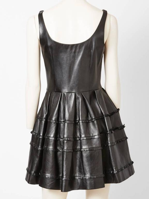 DIor Leather Dress With Fringe Detail In Excellent Condition For Sale In New York, NY