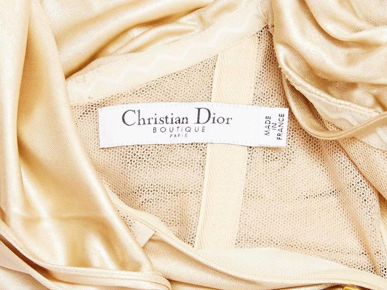 Christian Dior Draped Cocktail Dress 4