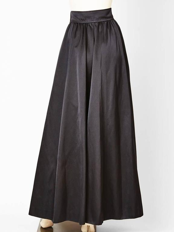 Yves Saint Laurent Satin Evening Skirt 3