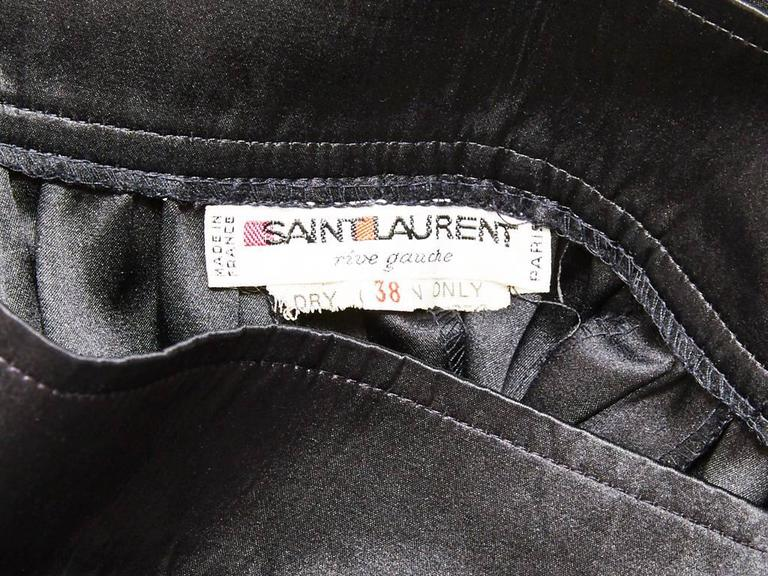 Yves Saint Laurent Satin Evening Skirt In Excellent Condition For Sale In New York, NY