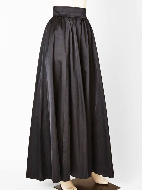 Yves Saint Laurent Satin Evening Skirt 5