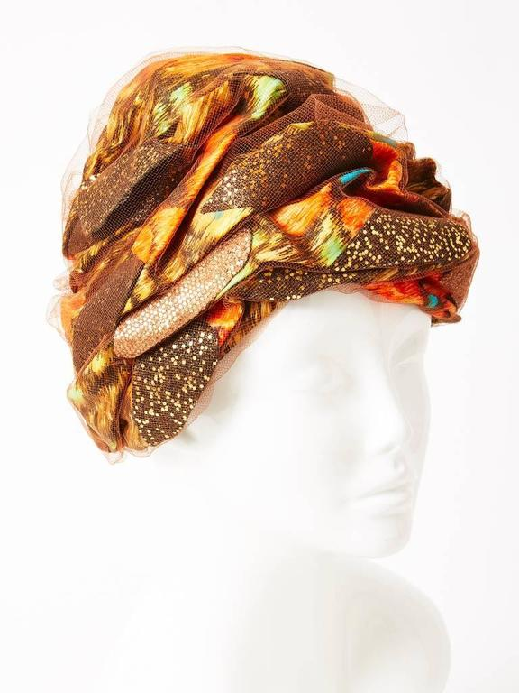 Christian Dior Turban In Excellent Condition For Sale In New York, NY