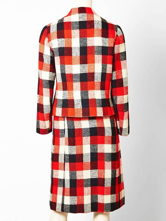 Givenchy Couture Plaid Day Suit In Excellent Condition For Sale In New York, NY