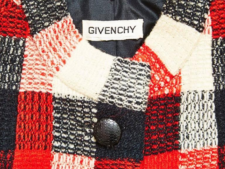 Women's Givenchy Couture Plaid Day Suit For Sale