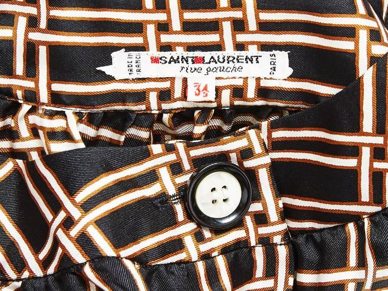 Yves Saint Laurent Smock Style Blouse In Excellent Condition For Sale In New York, NY
