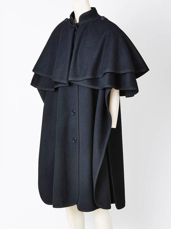 "Yves Saint Laurent Wool ""Gendarme"" Cape 2"