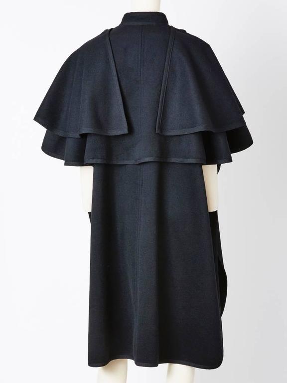 "Yves Saint Laurent Wool ""Gendarme"" Cape 3"