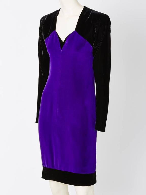 Yves Saint Laurent Velvet Couture Ensemble 3