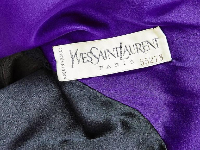 Yves Saint Laurent Velvet Couture Ensemble 7