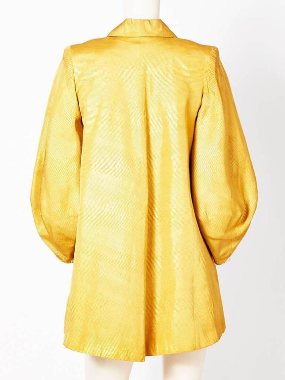 Yellow Dior Ottoman Evening Coat For Sale