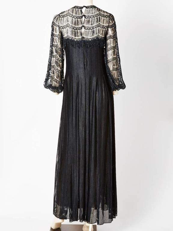 Galanos Open Work Gown In Excellent Condition For Sale In New York, NY