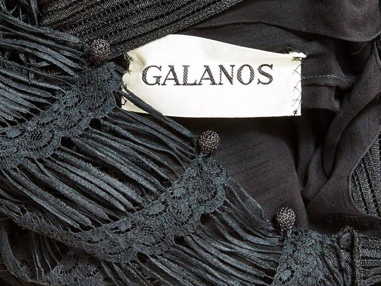 Galanos Open Work Gown For Sale 1