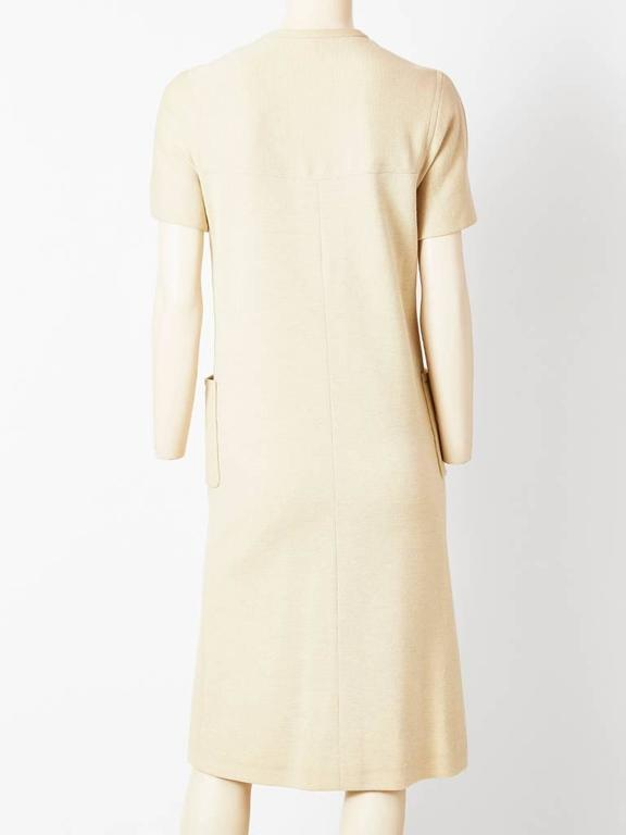 White Norell Wool Knit Day Dress For Sale