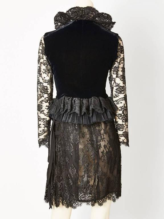 Christian Lacroix Lace and Velvet Cocktail Ensemble 4