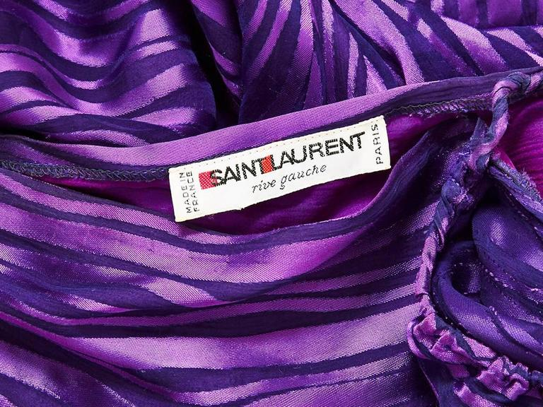 Yves Saint Laurent Chiffon Bias Cut Gown In Excellent Condition For Sale In New York, NY