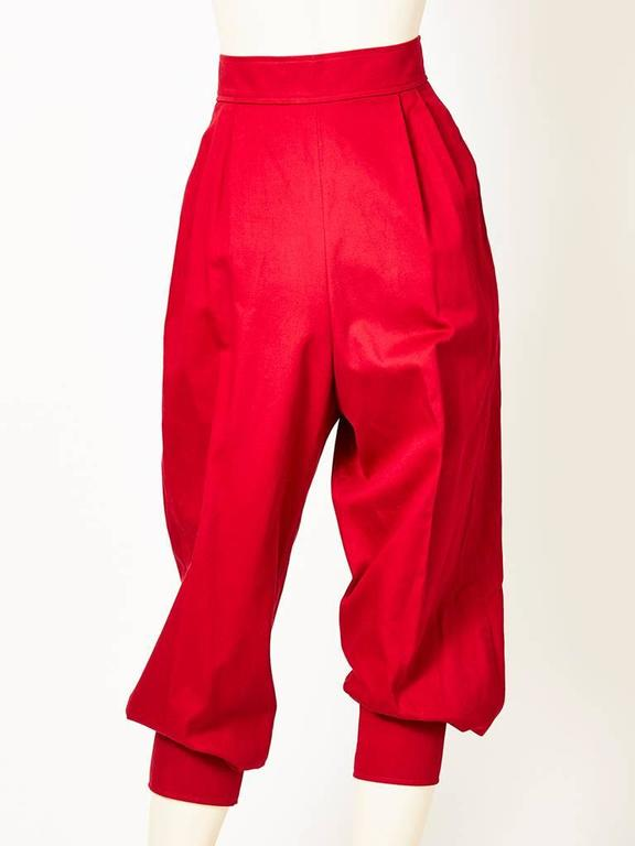 Red Yves Saint Laurent Jogger Pant For Sale