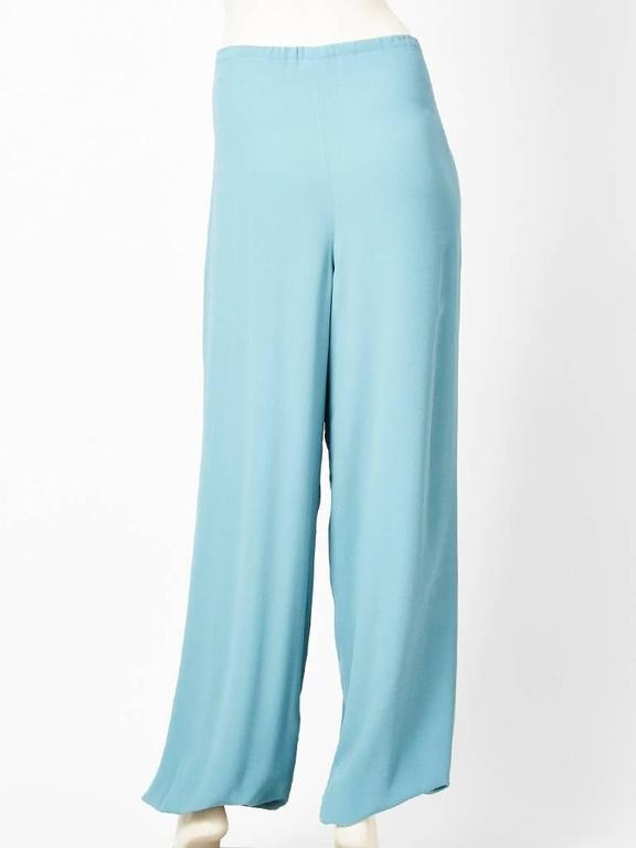 Blue Martin Margiela for Hermes Silk Georgette Harem Pant For Sale