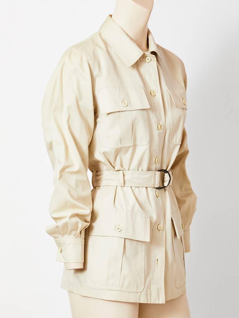 17e4894c1f Yves Saint Laurent Belted Safari Jacket Late 70's