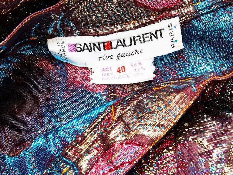 Yves Saint Laurent Jacquard Palazzo Pant 4