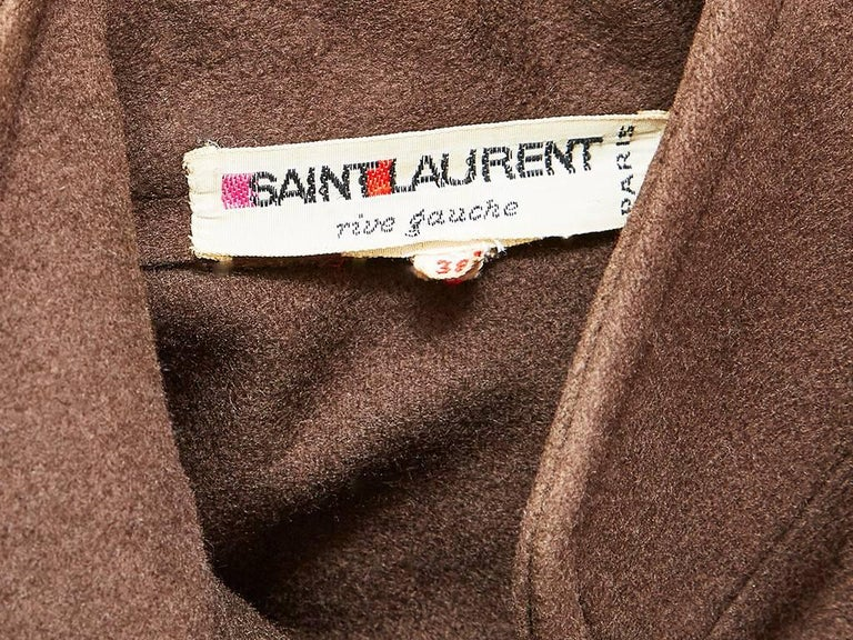 Yves saint Laurent Wool Cape with Mandarin Collar In Excellent Condition For Sale In New York, NY