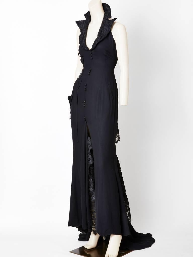 Christian Lacroix Silk Crepe Tuxedo Gown For Sale at 1stdibs