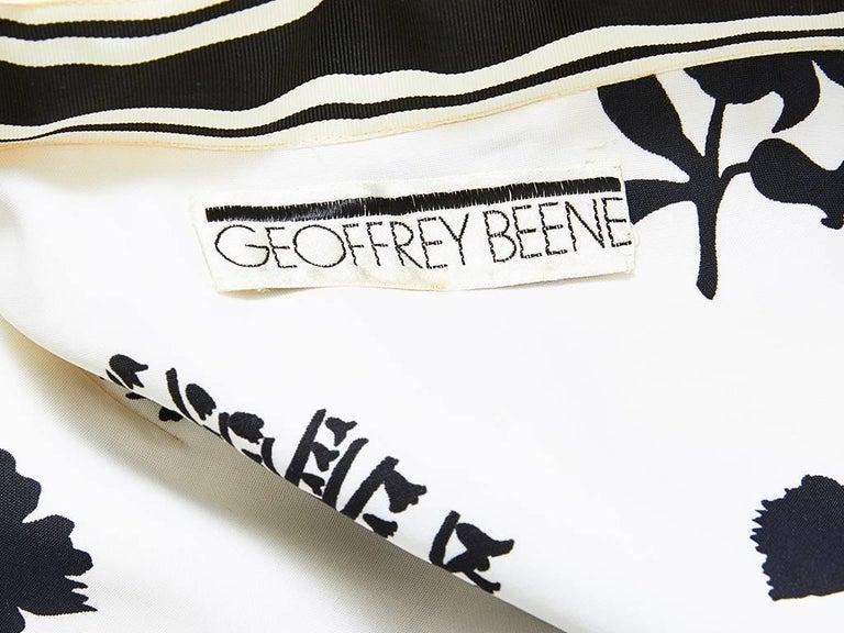 Geoffrey Beene Graphic Floral Pattern Day Dress 5