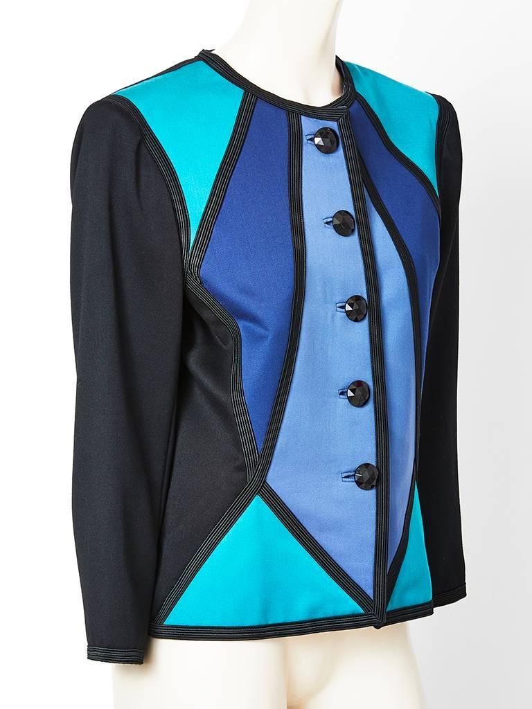 Purple Yves Saint Laurent Color Block Dinner Jacket For Sale
