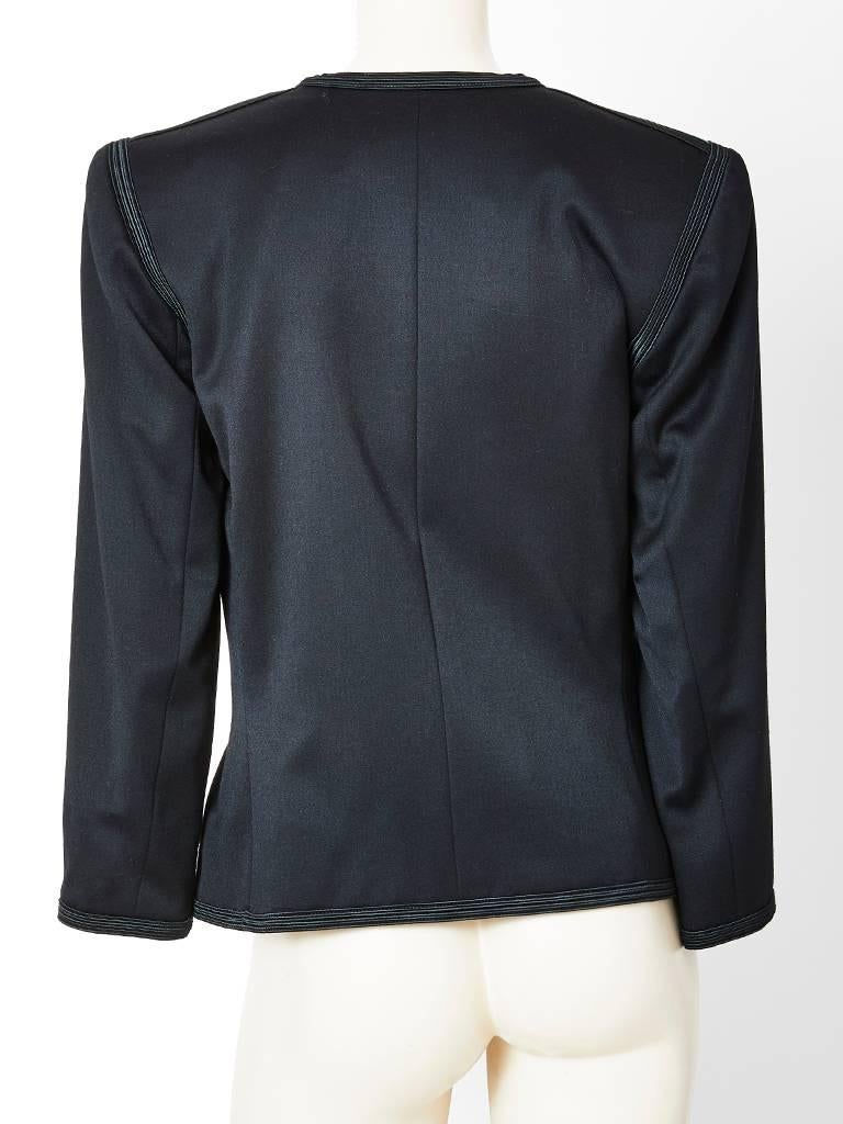Yves Saint Laurent Color Block Dinner Jacket In Excellent Condition For Sale In New York, NY