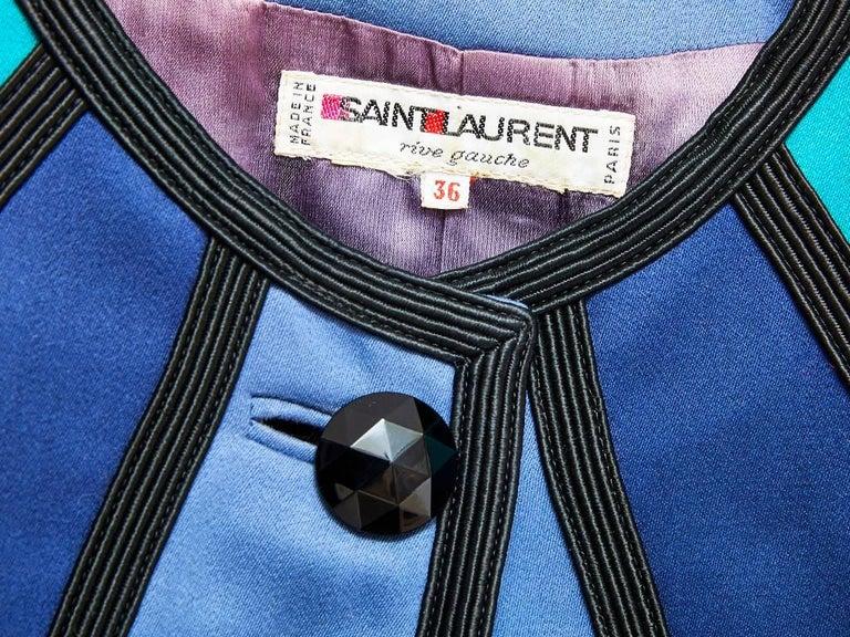 Women's Yves Saint Laurent Color Block Dinner Jacket For Sale