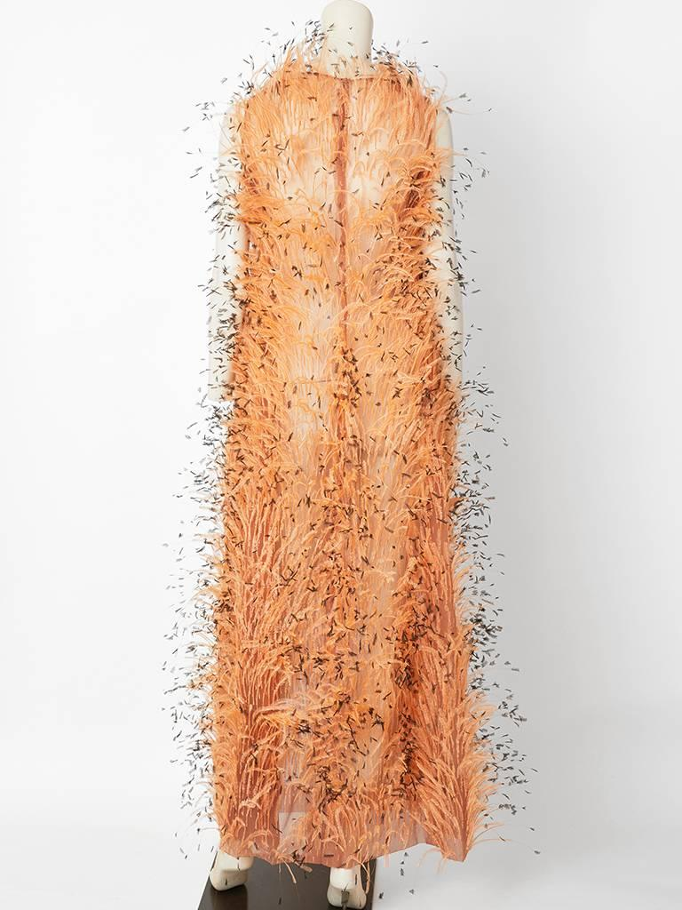 Balenciaga Feathered Gown C. 1967 For Sale 5