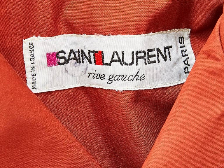 Yves Saint Laurent Rive Gauche Double Breasted Trench C. 1970's 5