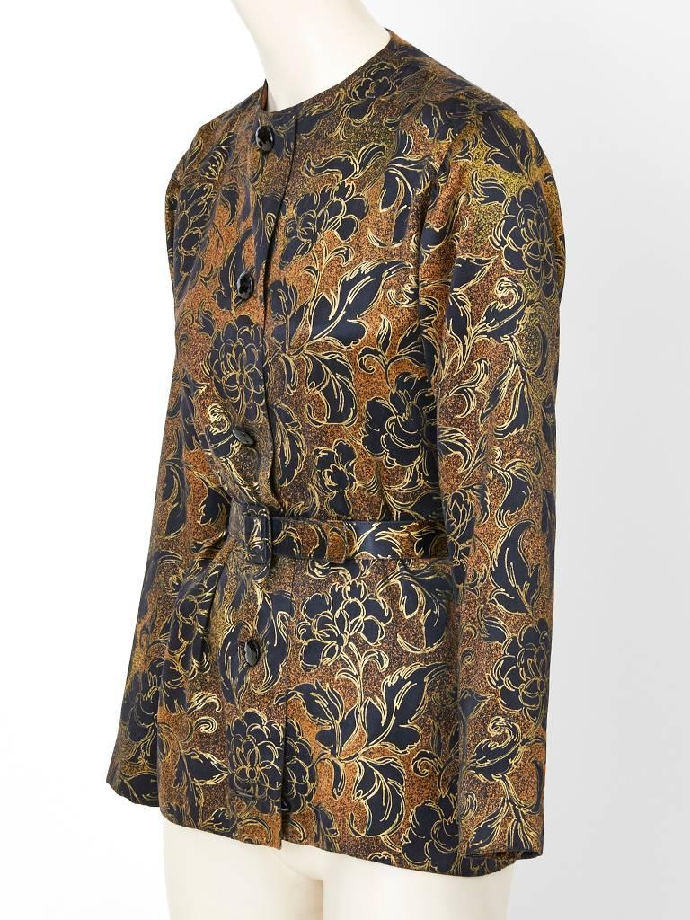 Brown Yves Saint Laurent Couture Evening Jacket For Sale
