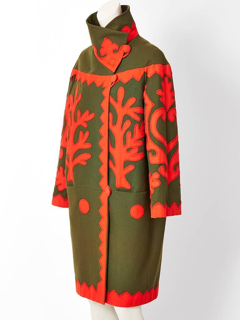Christian Lacroix Wool Coat with Applique Details 2