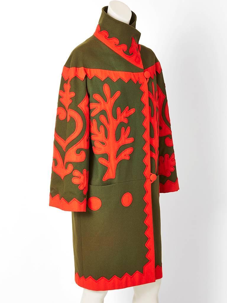 Christian Lacroix Wool Coat with Applique Details 3