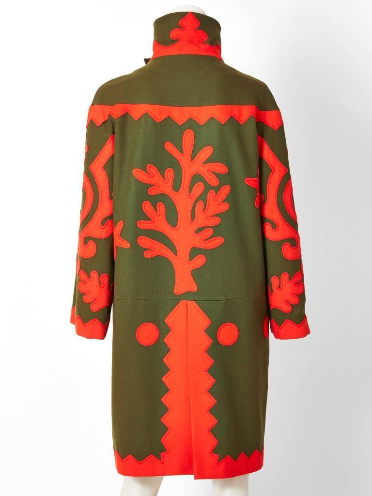 Christian Lacroix Wool Coat with Applique Details 4