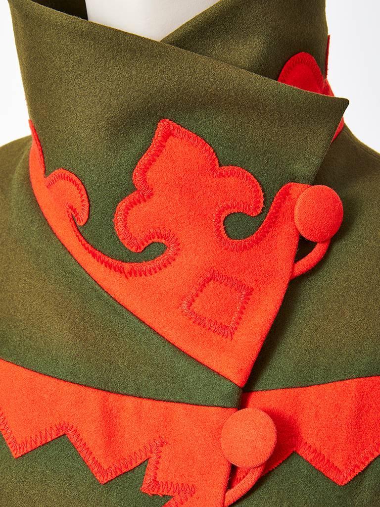 Christian Lacroix Wool Coat with Applique Details 5