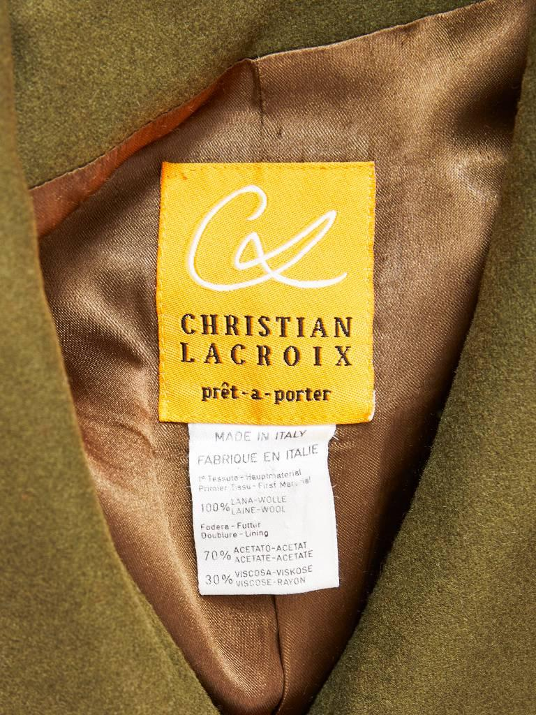 Christian Lacroix Wool Coat with Applique Details 6