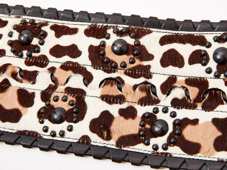 Alaia Stencilled Animal Print Belt In Excellent Condition For Sale In New York, NY