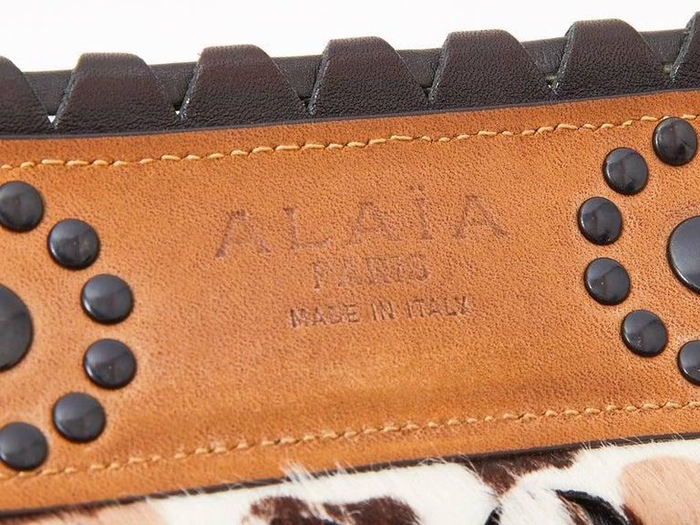 Alaia Stencilled Animal Print Belt For Sale 1