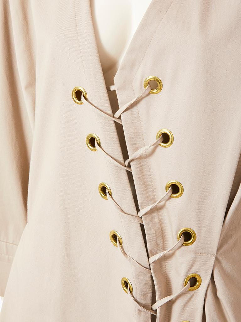 Yves Saint Laurent Khaki Saharienne Tunic In Excellent Condition For Sale In New York, NY