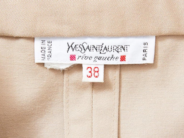 Yves Saint Laurent Khaki Saharienne Tunic For Sale 2