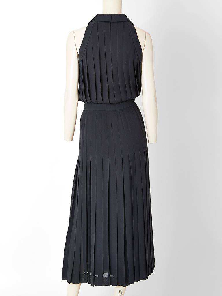 Karl Lagerfeld Pleated Maxi Dress In Excellent Condition For Sale In New York, NY