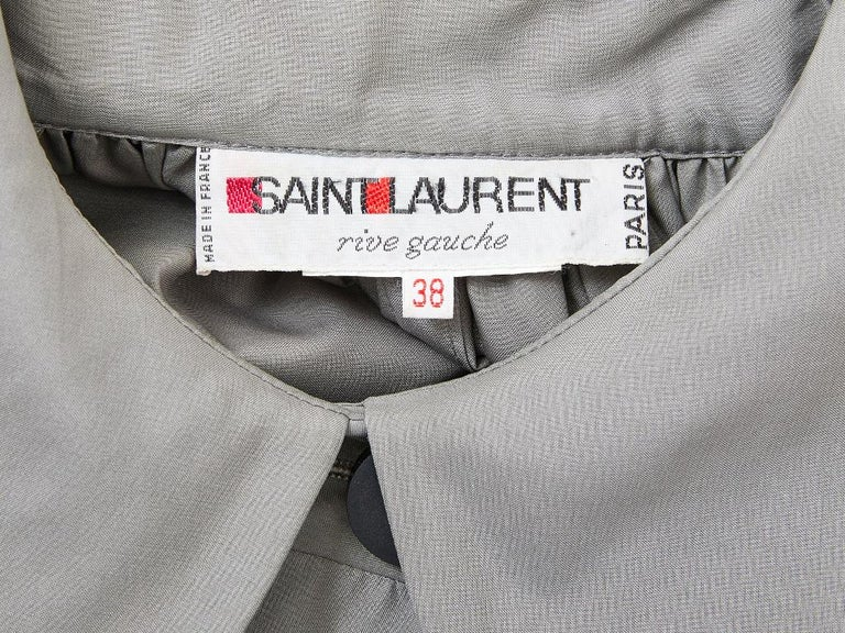 Yves Saint Laurent Taffeta Swing Jacket In Excellent Condition For Sale In New York, NY