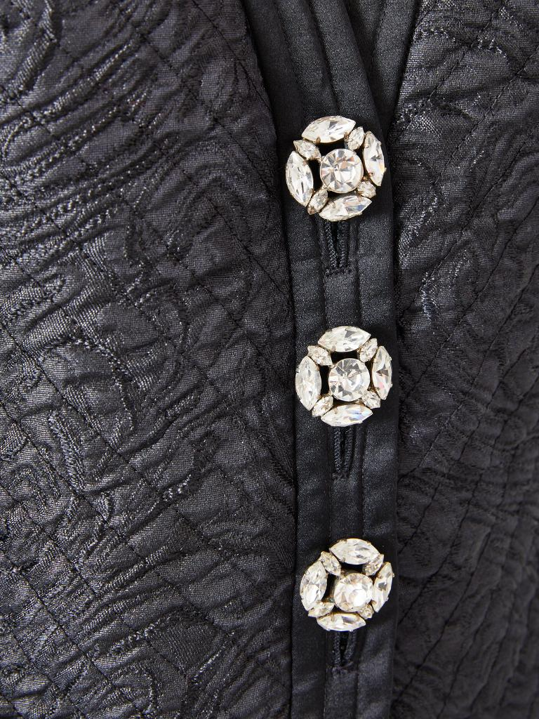 Black Yves Saint Laurent Rive Gauche Quilted Evening Jacket For Sale