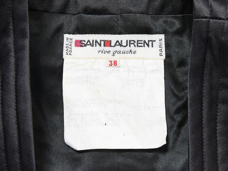 Yves Saint Laurent Rive Gauche Quilted Evening Jacket For Sale 1