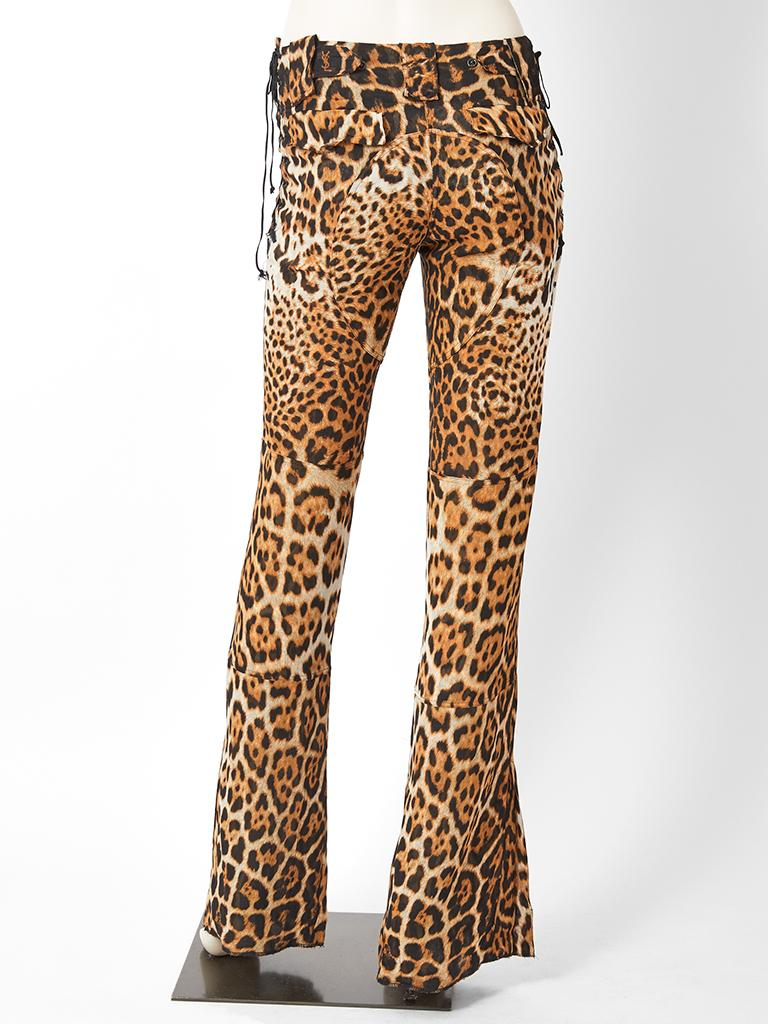 Tom Ford YSL Leopard Pattern Pants For Sale 1