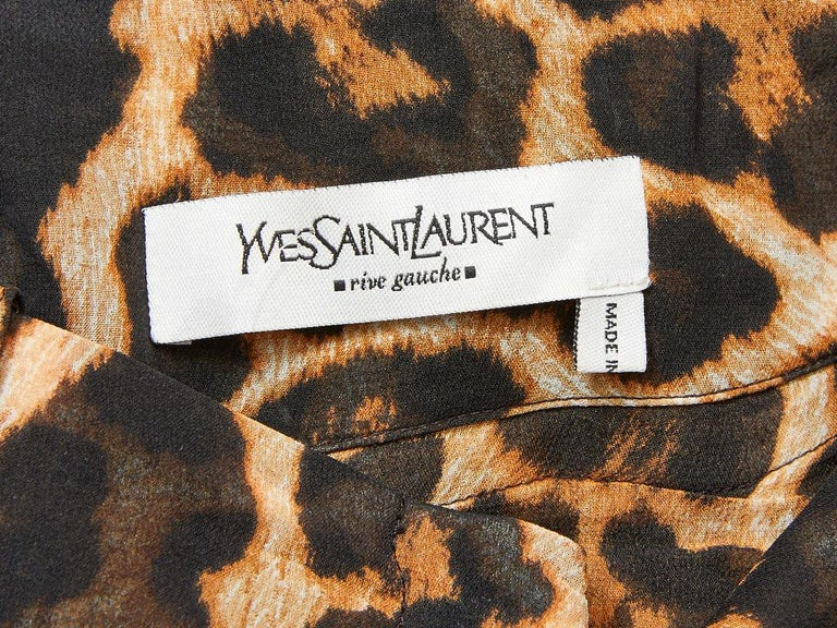 Tom Ford YSL Leopard Pattern Pants For Sale 2