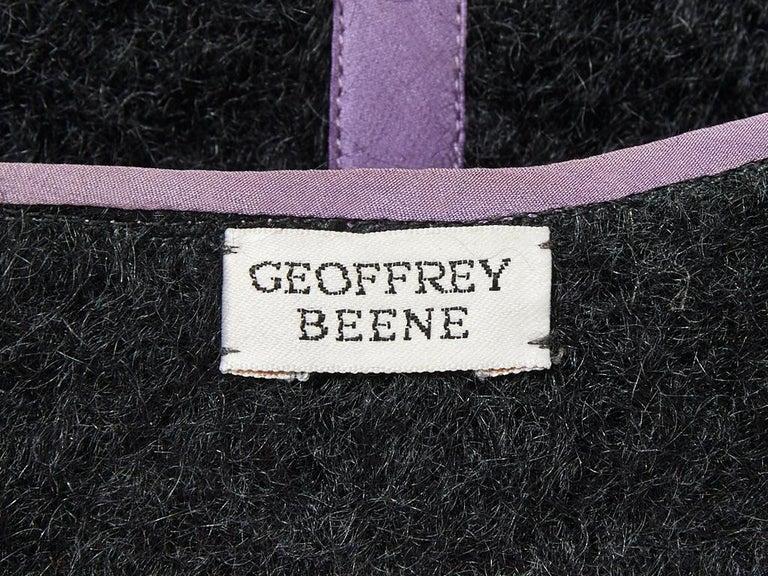 Geoffrey Beene Mohair Striped Bolero In Excellent Condition For Sale In New York, NY