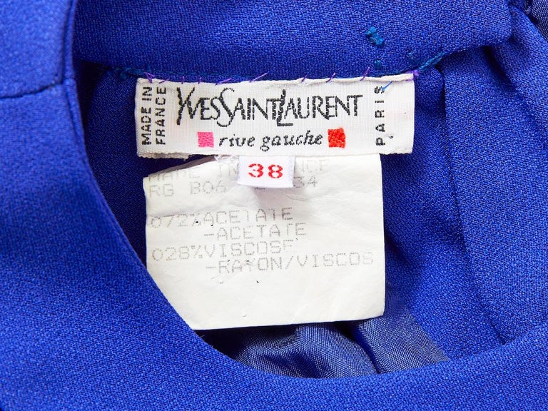 Yvest Saint Laurent Rive Gauche Halter Neck Evening Gown In Excellent Condition For Sale In New York, NY